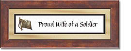 Wife of a Soldier Framed Tabletop General Verse