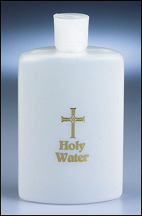 Cross Holy Water Bottle - 12/pk