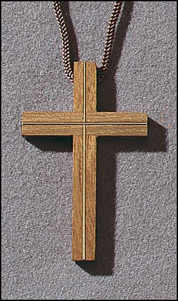 Cross with Inlay - 6/pk
