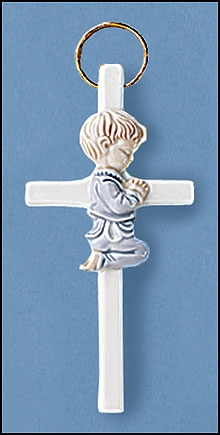 Praying Boy Wall Cross - 12/pk