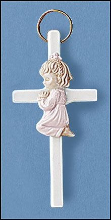Praying Girl Wall Cross - 12/pk