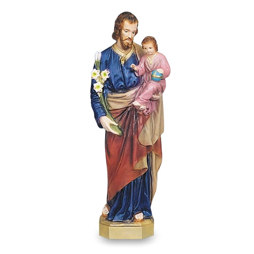 "24"" St Joseph with Child Statue"
