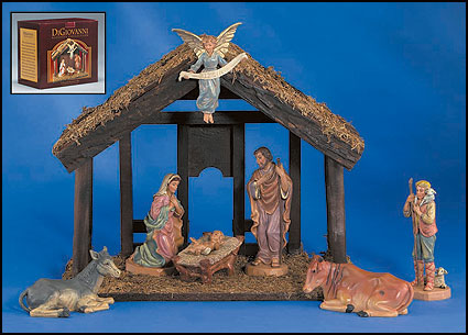 187 advent amp christmas 187 7 piece nativity set with wood stable