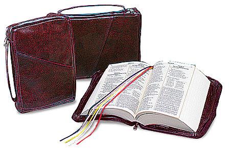 Large Burgundy Bible Case