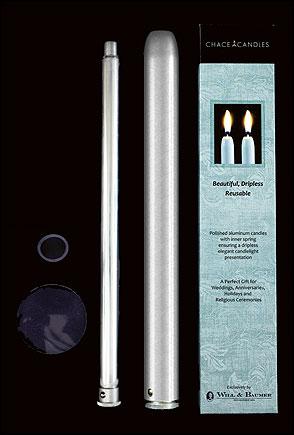 "8"" Aluminum Sleeve/Spring Mechanism - Silver"