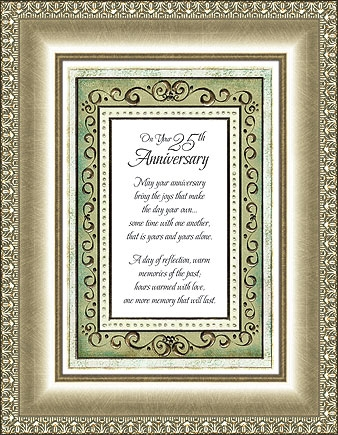 On Your 25th Anniversary Frame