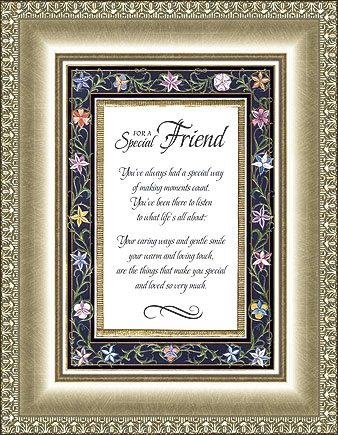 For A Special Friend Eloquence Frame