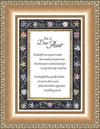 For A Dear Aunt Frame