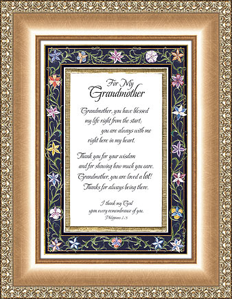 For My Grandmother Eloquence Frame