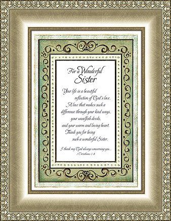 For a Wonderful Sister - 1 Cor 1:4