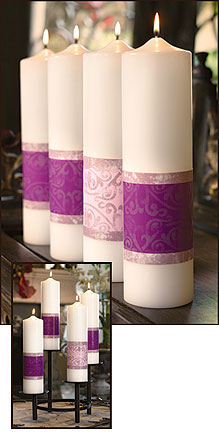 The Emmanuel Collection Advent Pillar Candle Set