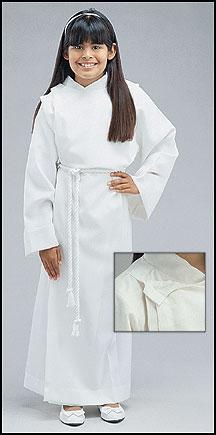 Front Wrap Alb - White