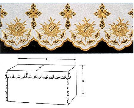Metallic Flower Altar Cloth, One Yard