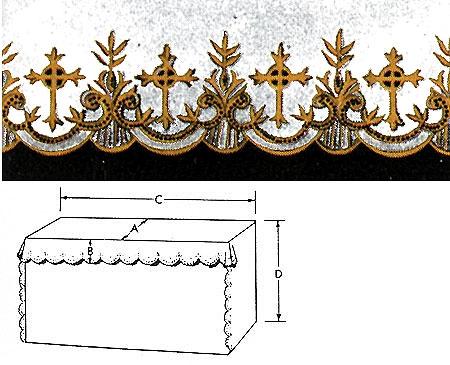 Fancy Cross Altar Cloth