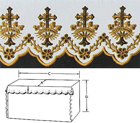 Cross Crown Altar Cloth Mass Linens Amp Altar Cloths