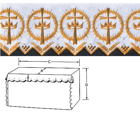 Crown/Cross Altar Linen