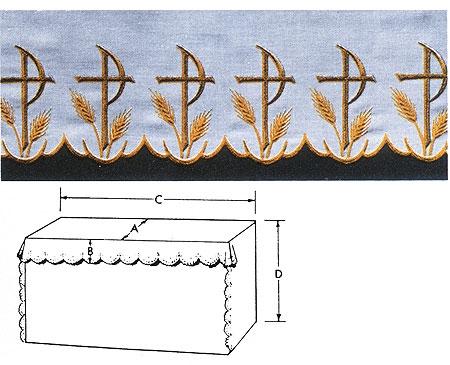 Chi Rho Altar Linen