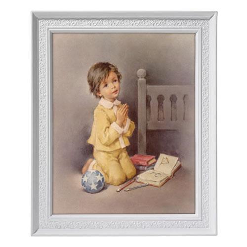 Kneeling Boy at Prayer Framed Print
