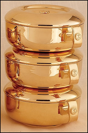 Chi Rho Stacking Ciboria Set
