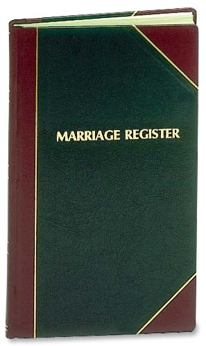 Marriage Register Standard Edition
