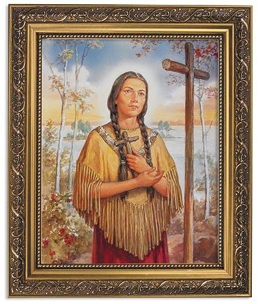 Saint Kateri Tekakwitha Framed Print