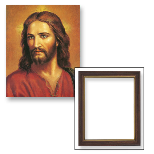 "10x12.5"" Head of Christ Frame"