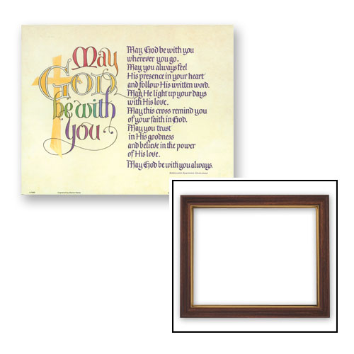 """10x12.5"""" May God Be With You Frame"""