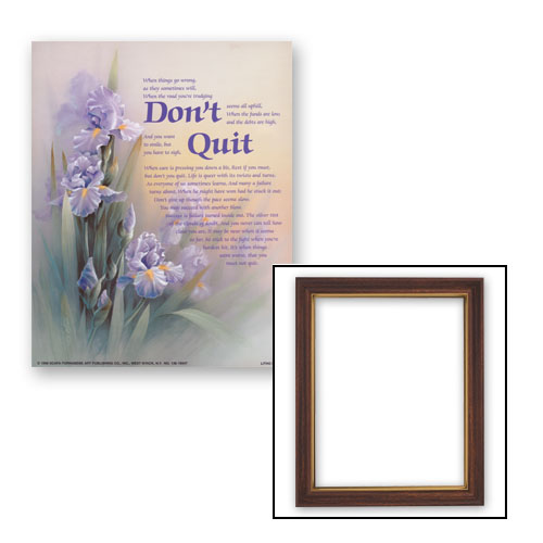 """10x12.5"""" Don't Quit Frame"""
