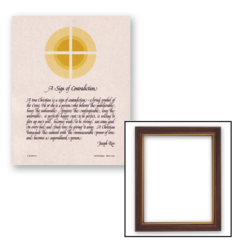 "10x12.5"" Sign of Contradiction Frame"