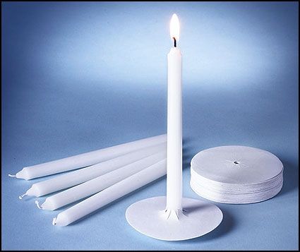 "6"" Devotional Candle with Bobeche - 250/bx"