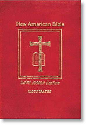 Red St Joseph New American Bible - Deluxe Medium Gift Edition (NABRE)