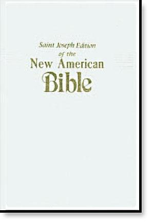 White St Joseph New American Bible - Medium Gift Edition (NABRE)
