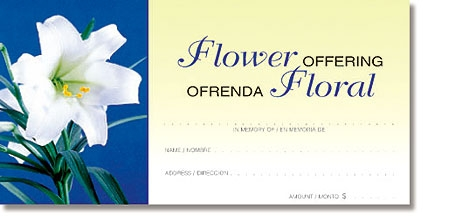 Easter Flower Binlingual Offering Envelope