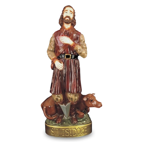 "24"" St. Isadore Statue"