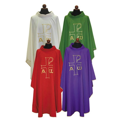 Chi Rho with Alpha and Omega Chasuble
