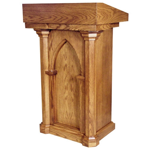 Lectern with Two Shelves