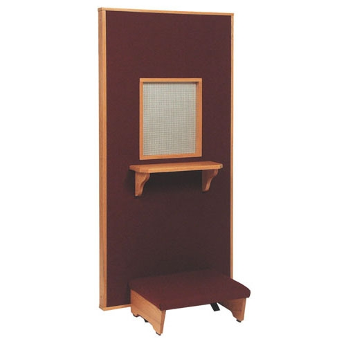 Confessional Kneeler with a personal Screen
