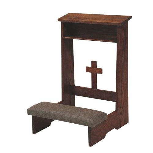 Church Supplies on Dark Mahogany Wood Furniture