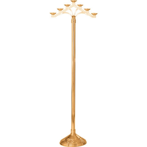 "60"" 5-Lite Floor Candelabra w/ Fixed Arms"