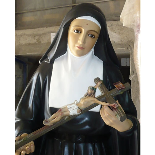 "58"" St. Rita Statue"