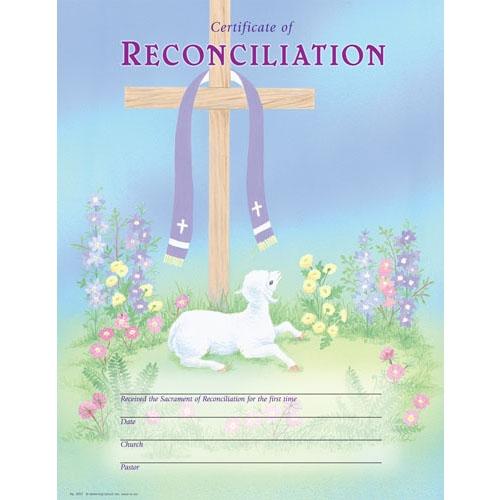 Reconciliation Certificate - 25/pk