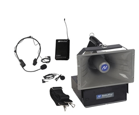 Wireless Half-Mile Hailer Series with Wireless Lapel Mic and Headset