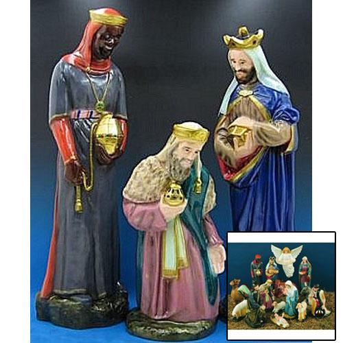 """Three Kings 36"""" Nativity Set"""