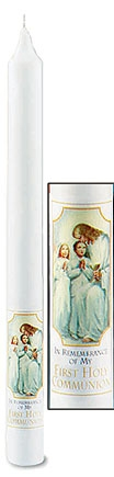 Traditional Memories First Communion Taper Candle - 24/pk