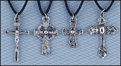 Metal Cross Assortment - 12/pk