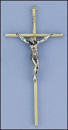 """8"""" Brass Crucifix - 3/pk"""