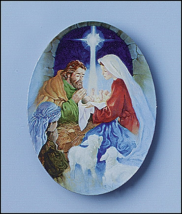 Unto Us a Child is Born Christmas Magnet - 36/pk