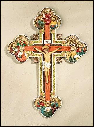 """13"""" Twelve Apostles Crucifix"""