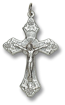 Metal Grapes Crucifix - 50/PK