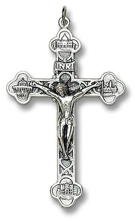Four Basilicas Crucifix - 50/PK